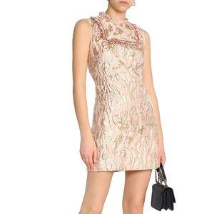 Sandro pink brocade Jacquard Mini Dress 2 (US M)